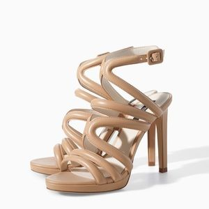 Zara Strappy Sandal with Ankle Strap